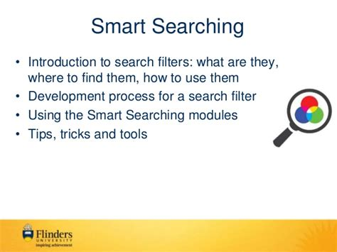 Search Smart Workshop On Smart Searching Search Filters And Expert Topic Searche