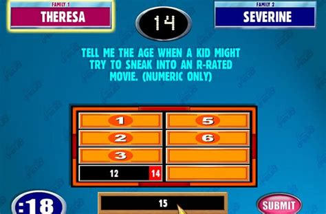 Family Feud Powerpoint Template Free Download Family Feud Template Free