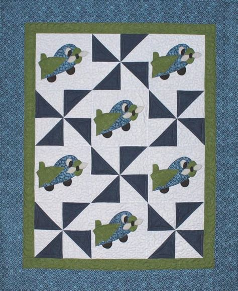 Airplane Baby Quilt Patterns Free by Aero Plane Baby Airplane Quilt By Steph Craftsy