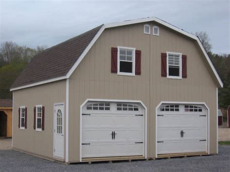 Gambrel Roof Garages by Amish 24x24 Double Wide Garage Gambrel Roof Structure Ebay