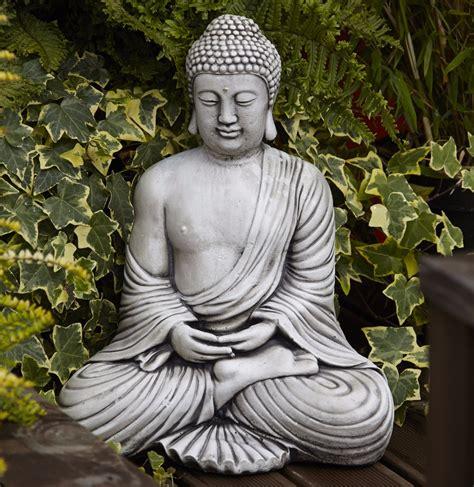 Buddha Garden Statue by Buddha Garden Statue Zen Garden Statues Dharmacrafts Thai