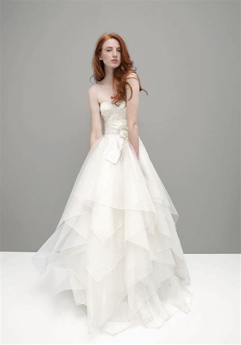 Brautkleider Organza strapless organza wedding dress sang maestro