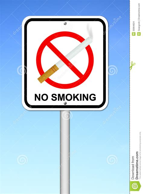 no smoking sign blue no smoking sign with cigarette stock images image 30964824