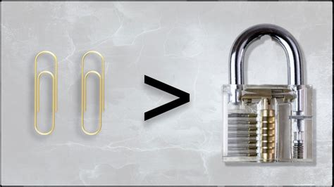 How To Make Paper Lock - how to a lock using 2 x paperclips demo on a