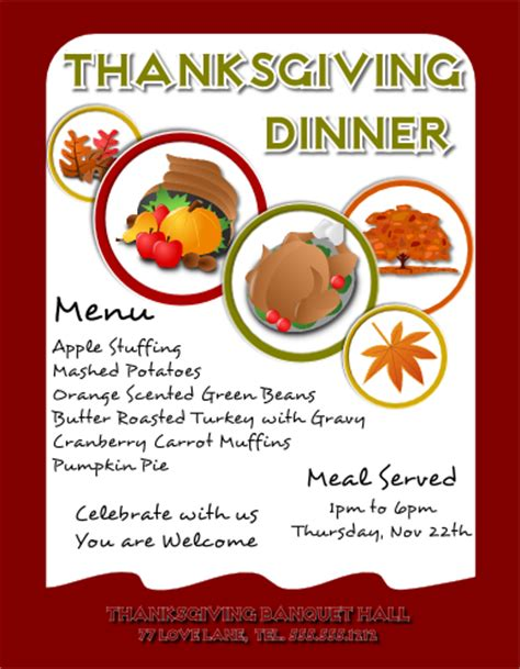microsoft templates for thanksgiving flyers thanksgiving flyer template free view larger image