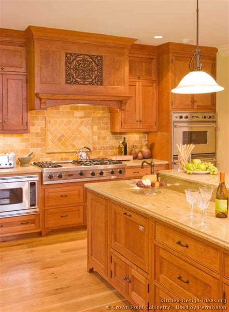light oak wood kitchen cabinets countertop and backsplash idea traditional light wood