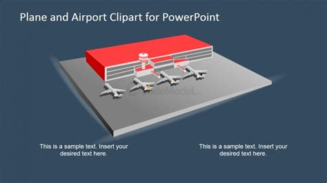 airport powerpoint template 3d airport and planes powerpoint clipart slidemodel