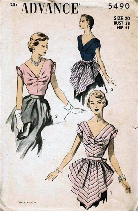 vintage patterns 1950s a 1849940940 vintage sewing pattern 1950s hostess blouse and apron a photo on flickriver