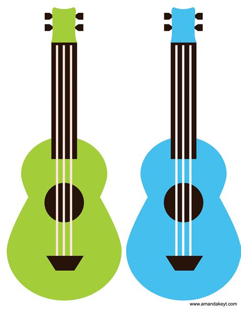 printable luau photo booth props ukuleles from mickey friends luau inspired printable