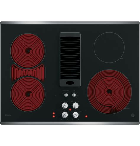 ge profile  downdraft electric cooktop ppsjss