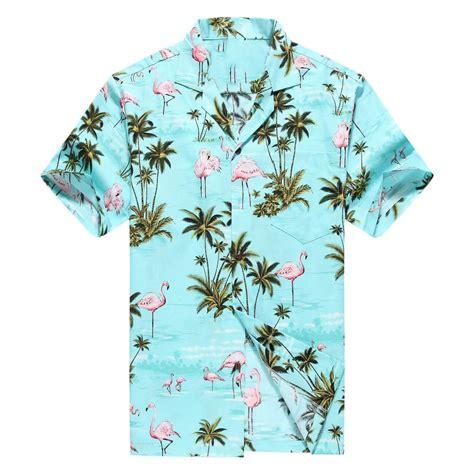 hawaiian shirt made in hawaii hawaiian aloha shirt luau cruise pink flamingos turquoise ebay