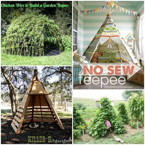 backyard teepee outdoor teepee playhouse diy projects