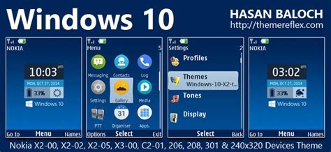 microsoft themes for nokia 5130 windows 10 live theme for nokia x2 00 x2 02 x2 05 x3 00