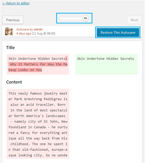 wordpress revisions tutorial how to undo recent changes for posts managing revisions