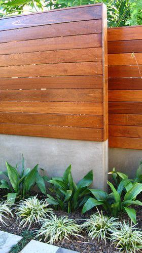 landscape layout horizontal mid century out door privacy fence cement block with