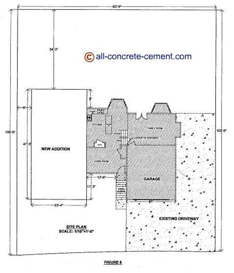 concrete home floor plans home addition plans room addition blueprint garage floor