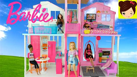 videos de casas de barbie casa de barbie de tres pisos 2016 decorando la mansion