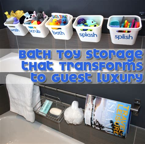 kids bathroom storage ideas stylish bath toy storage hometalk