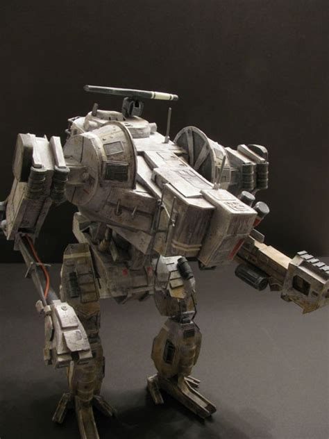 Mechanical Papercraft - hawken assault mech paper model craftacular