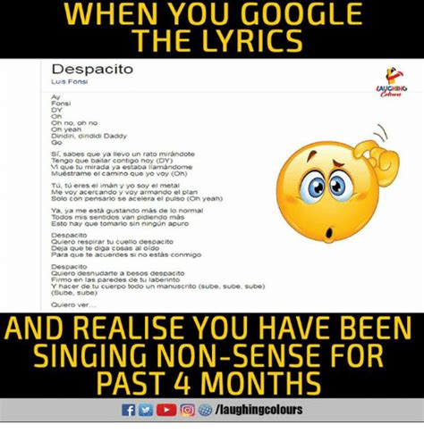 despacito quiero respirar tu cuello despacito lyrics 25 best memes about laberinto laberinto memes
