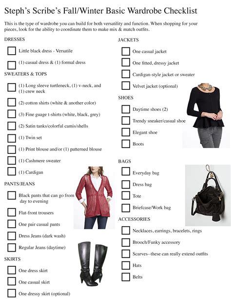 Planning A Wardrobe Checklist by Fall Winter Wardrobe Checklist As We Continue Fashion