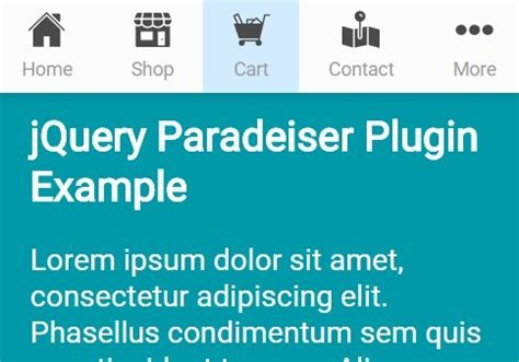 jquery mobile gallery smart responsive sticky navigation menu with jquery