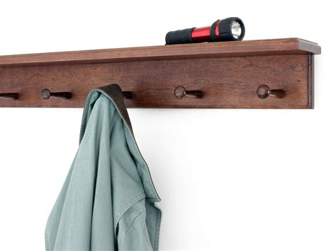 solid cherry peg racks with 4 inch top shelf made