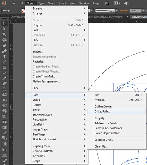 illustrator tutorial offset path expanding thin shapes for laser cutting adobe