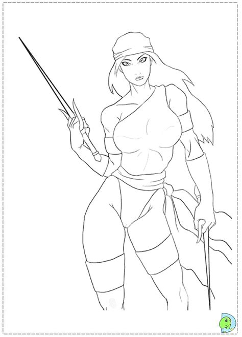 marvel elektra coloring pages free coloring pages of marvel daredevil