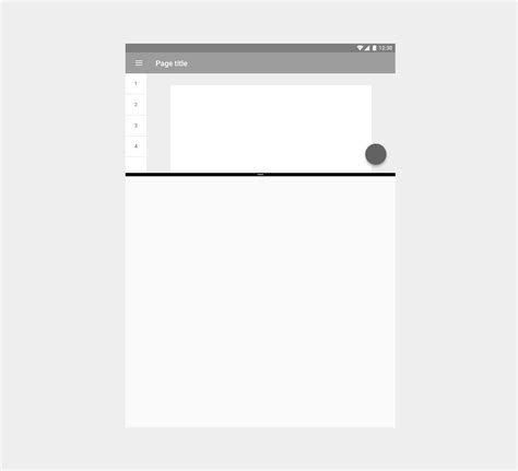 html layout split split screen layout material design guidelines