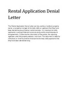Lease Application Rejection Letter Welcome To Docs 4 Sale