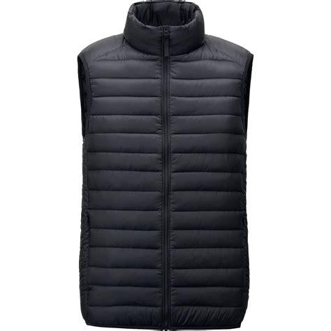 ultra light down vest uniqlo men ultra light down vest in black for men lyst