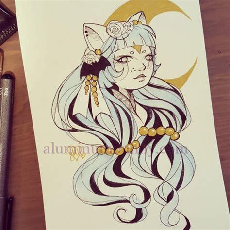 sketchbook inktober cat moon inktober sketch aluminum bunny of joanna nagy