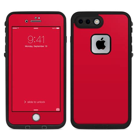 lifeproof iphone   fre case skin solid state red