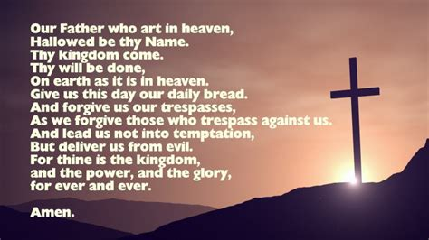 The Lord Prayer the lord s prayer our prayer traditional words