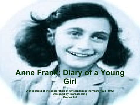 anne frank biography powerpoint anne frank power point