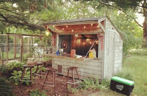 Forget Man Caves Backyard Bar Sheds Are The New Trend Backyard Cave