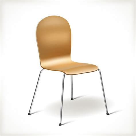 realistic kitchen chair vector free