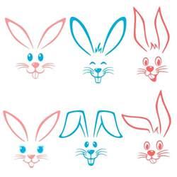 bunny face svg cuttable designs