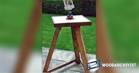 portable carving bench plans woodarchivist