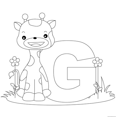 printable alphabet animal coloring pages alphabet letter g for preschool activities worksheetsfree