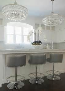 Gray swivel barrel back counter stools transitional kitchen