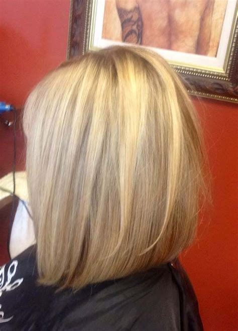 long graduated layers with a side angled or sweeping bang long inverted bob hairstyles back view hair pinterest