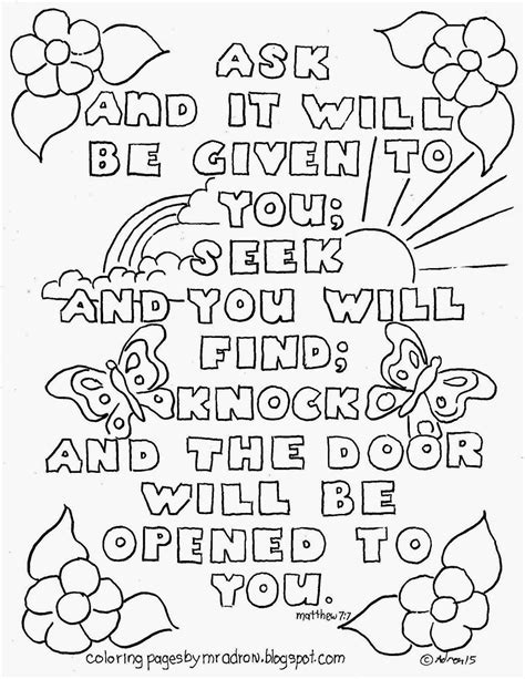 7 Eleven Coloring Page by Bible Verse Matthew 7 7 Coloring Page See More At My