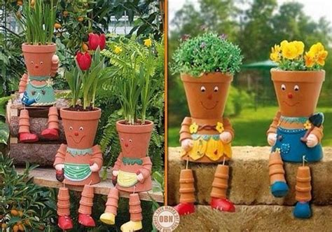Cute Flower Pots Cute Flower Pots Garden Pinterest
