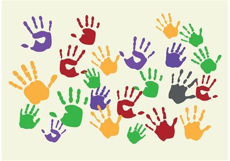 Gemalte Bilder Kindern by Painted Child Handprint Vectors Free Vector