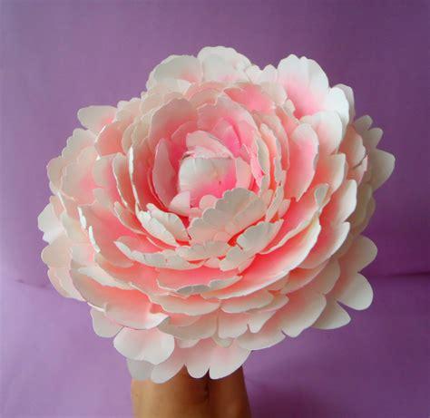 paper flower peony tutorial printable peony templates tutorial original size paper