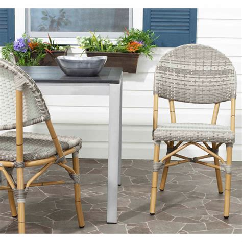 safavieh barrow wicker indoor outdoor stacking side chair