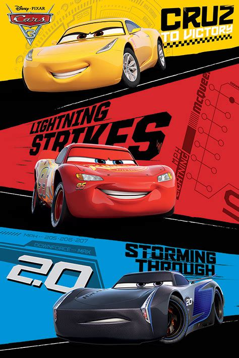 Cars 3 Trio Poster Sold At Europosters