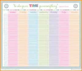weekly schedule planner template 5 printable hourly weekly schedule planner receipts